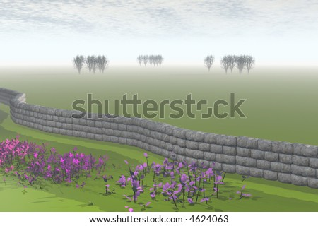 3D render of scotland
