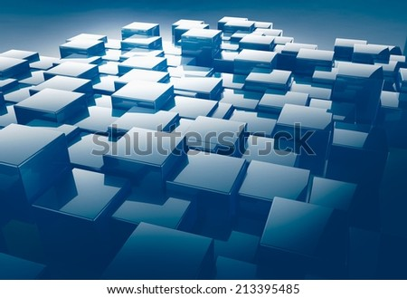 3d render of shiny cube for abstract background