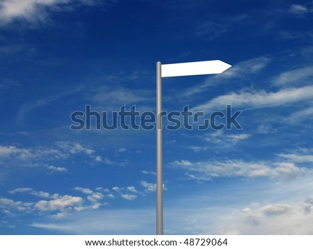 3D render of Signpost