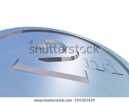 3d render of silver medal - stock photo