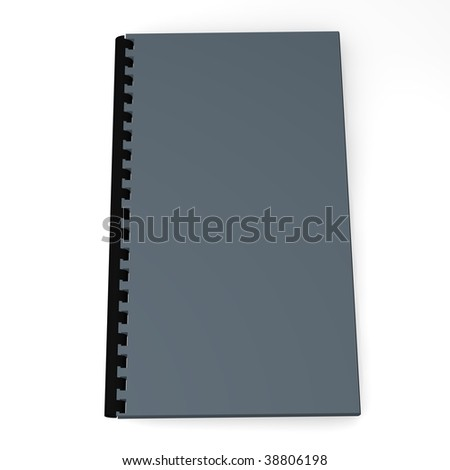 3d render of simple book