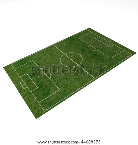 3d render of soccer field