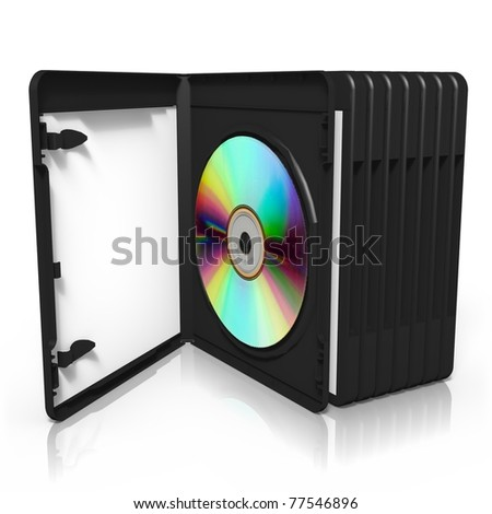 3d render of software box, isolated on white background