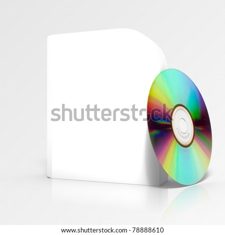 3d render of software box, isolated on white background - stock photo