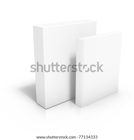 3D render of software box with book - stock photo