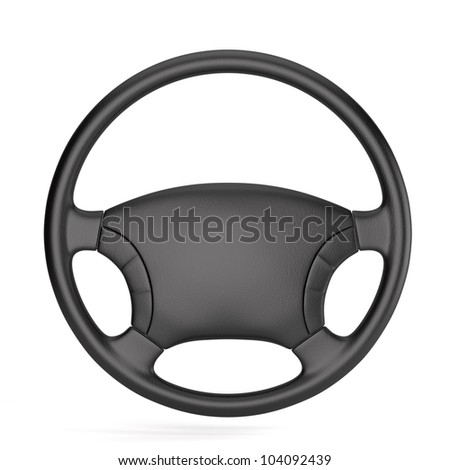 3d render of steering wheel isolated - stock photo