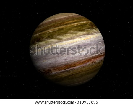 3D render of the planet Jupiter. Elements of this image furnished by NASA - stock photo