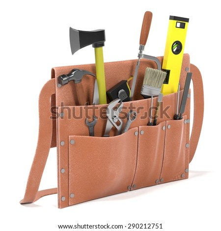 3d render of tool bag - stock photo