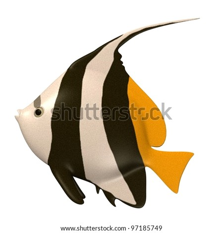 3d render of tropical fish - stock photo