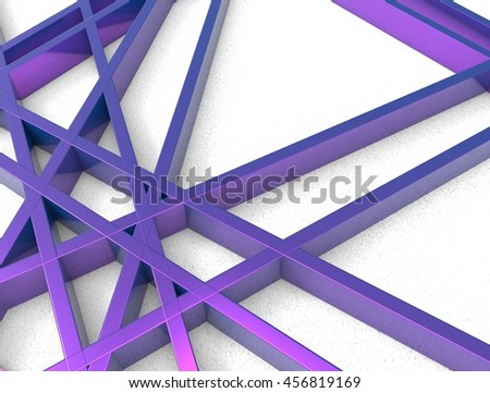 3d render of violet chaos mesh isolated on white background - stock photo