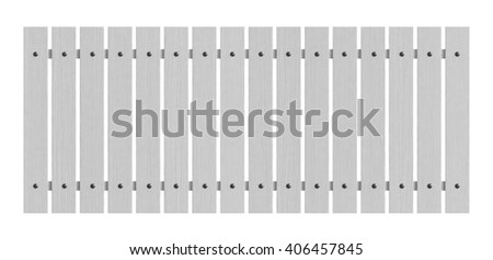 3d render of white wooden fence isolated over white background - stock photo