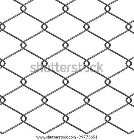 3d render of wire fence