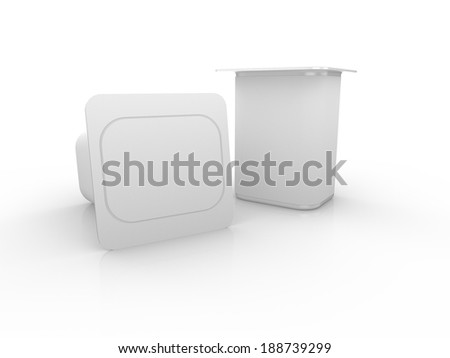 3d render of yogurt cup, isolated for use as product template for food and beverage industry