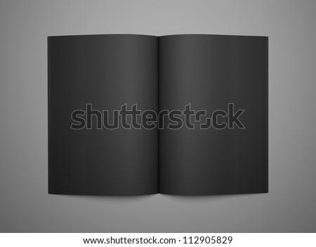 3d render open black book - stock photo