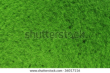 3D render - perfectly clean grass background; distant top view. - stock photo