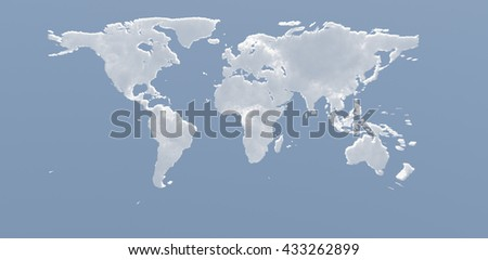 3D Render Planet Earth Clouds - stock photo