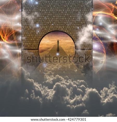 3D Render Spiritual Journey - stock photo