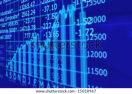 3d Render Stock Market Graph With Going Up Arrow