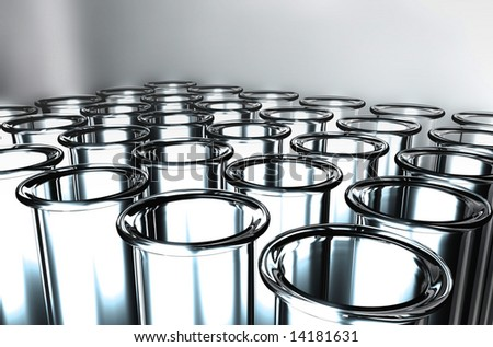 3D Render Test Tube - stock photo