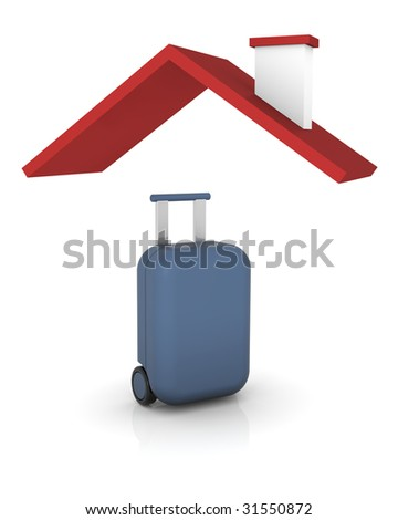 3D render that represents travel covered by insurance - stock photo