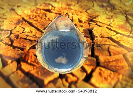 3d render water conservation environmental conceptual image