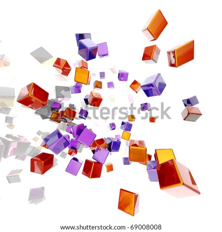 3D rendered abstract background. Isolated on white. - stock photo