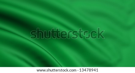 3d rendered and waving flag of libya - stock photo
