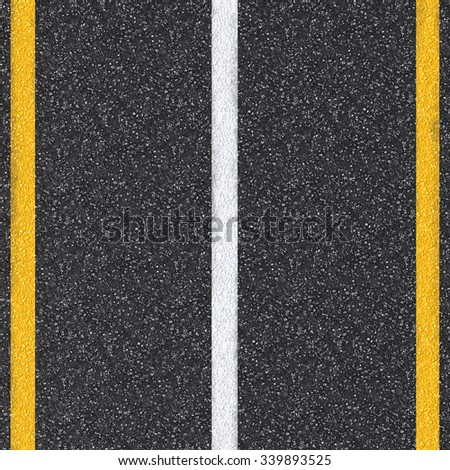 3d rendered asphalt road top view