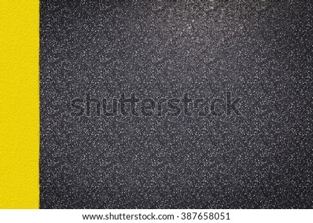 3d rendered asphalt road top view with yellow lines