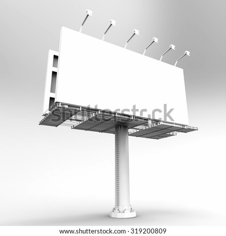 3d rendered blank billboard