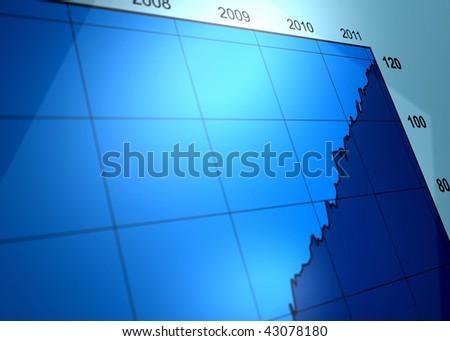 3D rendered business graph. - stock photo