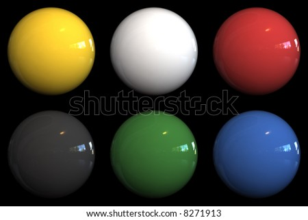 3d rendered color balls - stock photo