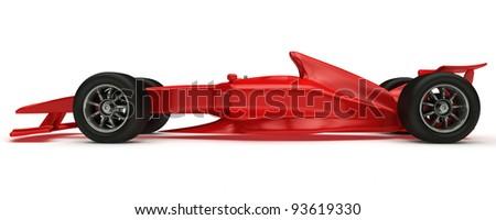 3D rendered Concept formula Car - stock photo
