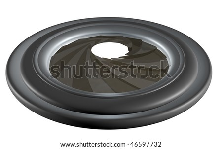 3d rendered diaphragm isolated on white