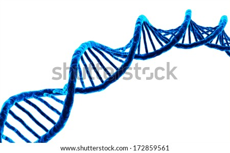 3d rendered DNA isolated on white background - stock photo