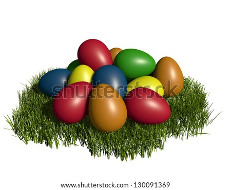 3D rendered egg clipart illustration - for festive design or icon creation - stock photo