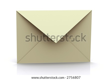 3d rendered envelope - stock photo