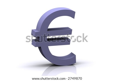 3d rendered euro sign (More 3d icons like this available on my gallery)