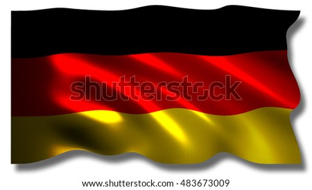 3D rendered flag of Germany