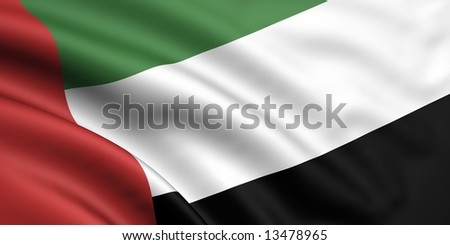 3d rendered flag of united arab emirates