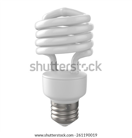 3d rendered fluorescent lamp - stock photo