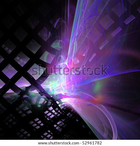 3D rendered Fractal for background, can be used for print or web