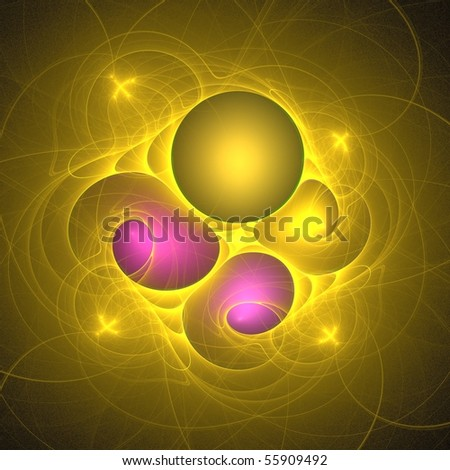 3D rendered Fractal for background, can be used for print or web - stock photo