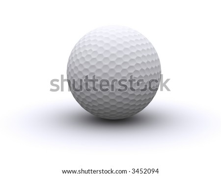 3d rendered golf ball - stock photo