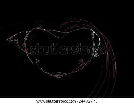 3D rendered heart for background