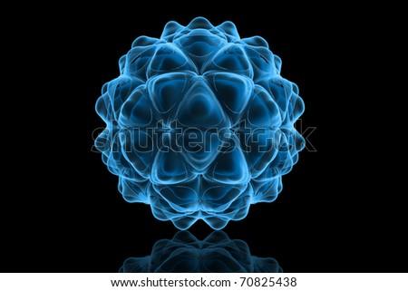 3d rendered HIV virus - stock photo