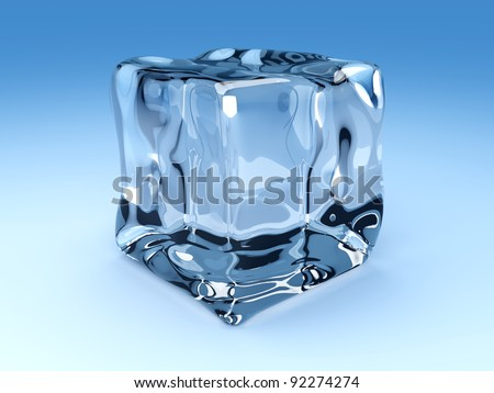 3D rendered Illustration. A group of Ice cubes. - stock photo