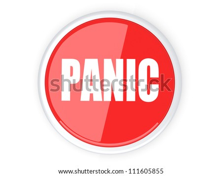 3D rendered Illustration. A panic button. - stock photo