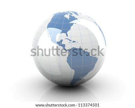 3D rendered Illustration. An Earth Globe. - stock photo