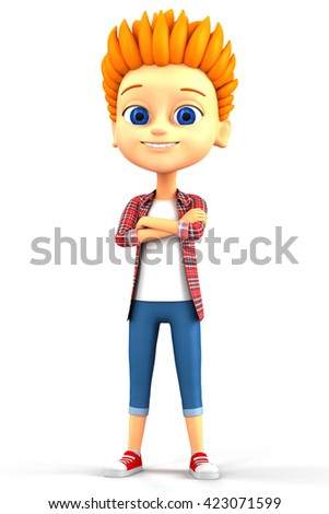 3d rendered illustration. Boy isolated on white background.